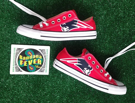 12dfe2b8c4d3 lovely Custom Patriots Converse Shoes Low Red FREE SHIPPING ...
