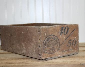 Wooden Crate - 40/50 - California Outside Prunes - Home Decor - Storage - Organizer - Vintage Decor