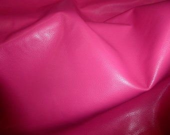 """Leather 8""""x10"""" DIVINE Hot Pink / Fuchsia Cowhide fine grained 2-2.5 oz / .8-1 mm Full hides available - PeggySueAlso™ E2885-34"""