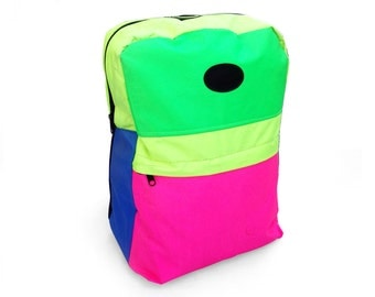 Gnarly 90s Quad Neon Unbranded Nylon Backpack