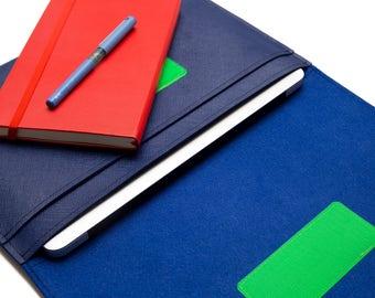 "MacBook 12"" Sleeve, 13"" MacBook Organizer, 12"" macbook case, 13 inch macbook Procase - Navy & Blue"