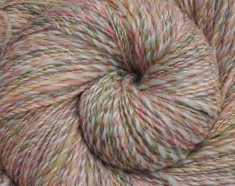 Handspun yarn - Merino wool / trilobal nylon yarn, Fingering weight - 505 yards - Coppélia
