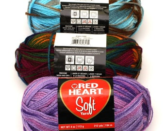 Red Heart Soft Yarn choose a color