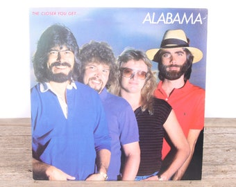 Vintage 1983 Alabama Record - The Closer You Get / RCA Vinyl Records / Antique Vinyl Records / Old Records Music Party Decor / Rock Country