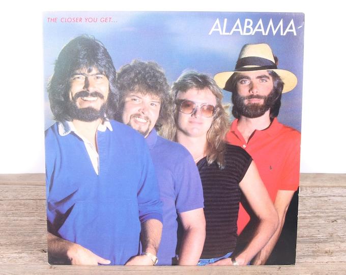 Vintage 1983 Alabama Record - The Closer You Get / RCA Vinyl Records / Antique Vinyl Records / Old Records Music Party Decor / Rock Country