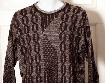 Vintage 80s Men's Sweater - Peter England - M