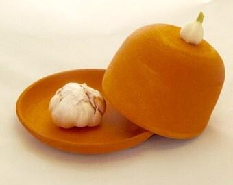 Handmade Terra Cotta Clay Ceramic Garlic Roasters for Fresh Garlic