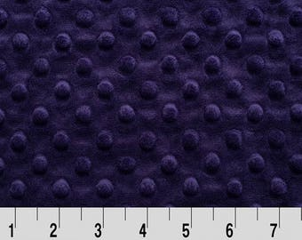 Eggplant Dimple Cuddle Minky From Shannon Fabrics