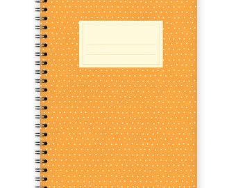 Notebook A5 - Little Orange Polka Dots Pattern