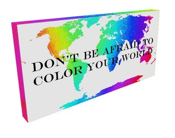 Color Your World - 10x20 Print or Canvas