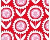 SHOP CLOSING SALE Michael Miller Fabric by the yard Hello Sunshine in Red 1 yard