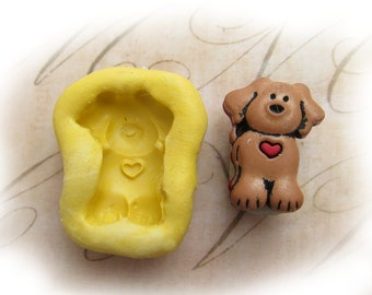 dog mold,  silicone mold ,  puppy mold  -  craft mold - food mold - push mold - soap mold - - # 61