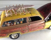 Scale Model Car,Surf Woodie,Classicwrecks,Surfing,Junkyard