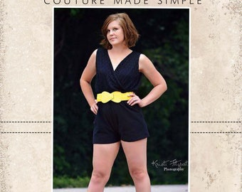 Camila's Crossover Romper and Dress PDF Pattern Size XS to XL
