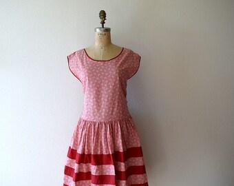 Vintage 1920s dress . 20s art deco print dress