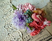 Antique Vintage Velvet Millinery Flowers Posy - #11