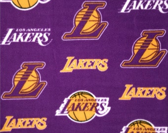 NBA Los Angeles Lakers Fleece V3 Fabric by the yard