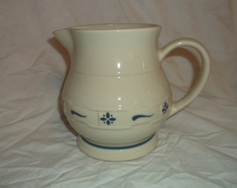 Longerberger Woven Traditions Blue Water Milk Pitcher Jug 32 oz
