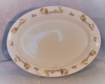 """Noritake """"The Pagoda"""" Serving Platter 14"""" from 1912"""