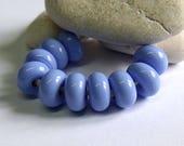 Periwinkle, Lampwork Spacer Beads, SRA, UK