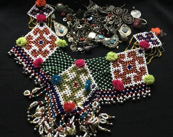 Mixed Lot KUCHI Afghan Tribal Jewelry BROKEN Parts Findings Beads Pendants Belly Dance Costume Supply KP2 Uber Kuchi®