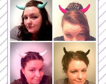 Crochet Demon Horns Hair Clips