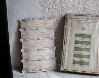 Antique French Fishing Line on Cardboard Cards // Silk Thread