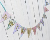 Bride To Be Bunting Banner - Bridal Shower - Hen Party - Gold, Mint, Peach, Lilac - Boho Floral