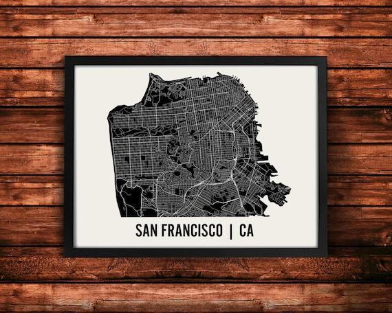 San Francisco Map Art Print | San Francisco Print | San Francisco Art Print | San Francisco Poster | San Francisco Gift | Wall Art