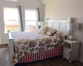 Coastal king size poster bed frame/bedroom furniture/king size bed/solid wood