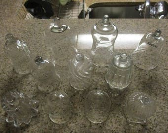 Mixed Lot of 11 Vintage Clear Glass Peg Votive Candle Cups