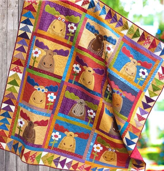 Northern Exposure PDF Quilt Pattern Quilt Pattern Quilts : moose quilt - Adamdwight.com