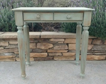 Custom Vanity Table Distressed.  Side Table Custom Rustic Table