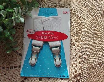 VIntage elastic supporters ,Gem Dandy Inc., vintage hose supporters,Gemco,
