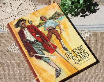 Treasure Island hard cover 1968 book by Robert Louis Stevenson