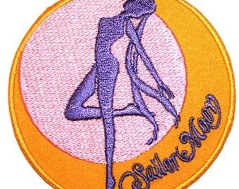 Sailor Moon Iron On Patch Embroidery Sewing DIY Customise Denim Cotton Cute Feminist Kawaii Anime Japan Cartoon Pastel Scout
