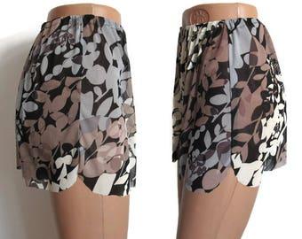Tulle Sleepwear Brown Lingerie Women's Grey Pajamas Honeymon Pajama Tulle Pajama Panties Lingerie Shorts Sheer Panties Knickers Night Shorts