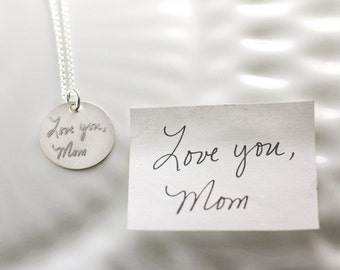 Handwriting jewelry - Handwritten necklace - Actual writing - Signature - Sterling silver - Personalized jewelry - Memorial jewelry