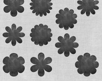 Printable Chalkboard Flower Scrapbooking Tags, Chalkboard Tags, Gift Tags, Chalkboard Elements