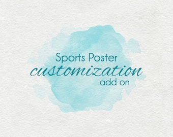 Sports Poster Customization add-on