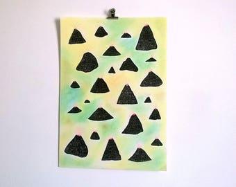 Volcanoes Original illustration