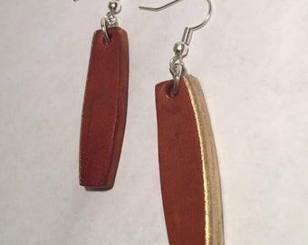Hand Painted Rectangular Earrings