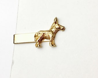 Vintage DONKEY tie Pin Made of Solid gold tone, animal figural, item  no B233