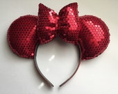 Disney Red Sequin Mickey Ears