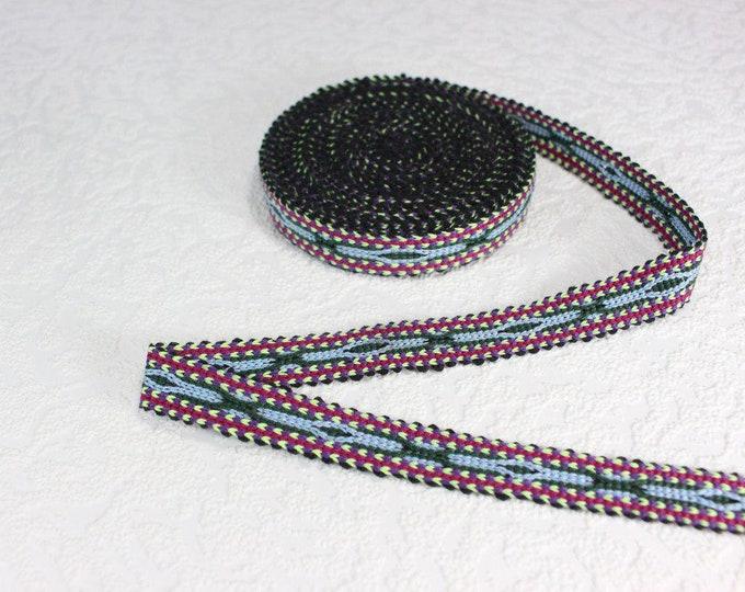 Woven Trim (6 yards), Woven Border, Cotton Ribbon, Grosgrain Ribbon, Dress Border, Border Trim, R172