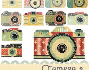 Camera Clipart 2, Retro Camera Clipart, Digital Clipart, Photography Clipart,  Instant Download, Tag Clipart, Photo Clipart,