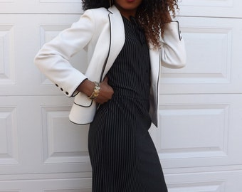 """Vintage Label """"Butte"""" Pin Striped Dress with Matching Blazer.  Chic!"""