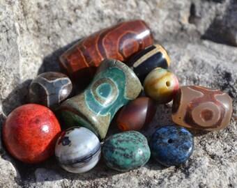 Instant bracelet lot of dzi beads  DZL358
