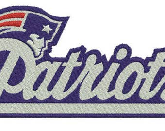 New England Patriots Embroidered Iron On Patch