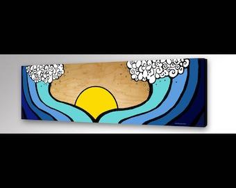Ocean Waves Print | Wave Painting | Beach Waves Art | Beach Coastal Art | Wall Art | Personalized Gift | Surfer Girl | Surf Decor | Hawaiian
